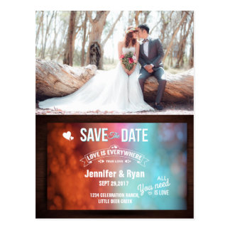 Bridal Bouquet Red Flowers/Save The Date Postcard