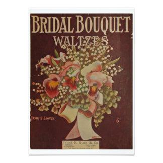 Bridal Bouquet Waltz 13 Cm X 18 Cm Invitation Card