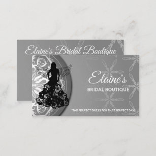 Bridal shop business cards zazzle uk bridal boutique business cards reheart Gallery