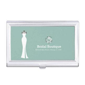 Bridal Boutique - Choose your background color Business Card Holder