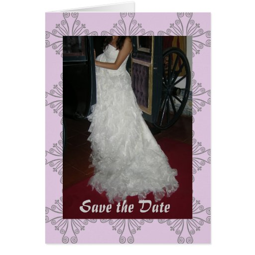 Bridal Carriage Save the Date Card
