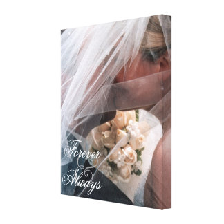 Bridal Couple Forever & Always Photo Canvas Print