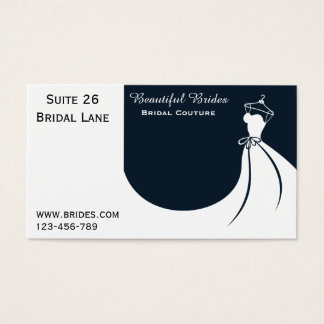 Wedding dress bridal business cards business card printing bridal couture bridalwear wedding dress designs business card reheart Images