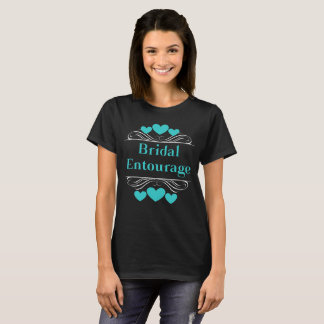 Bridal Entourage Heart Tee~Teal T-Shirt