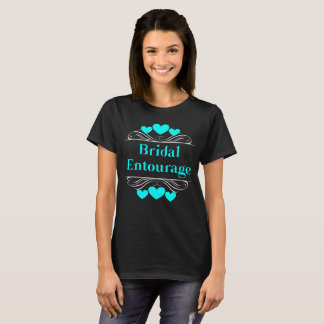 Bridal Entourage Heart Tee~Turquoise Pool T-Shirt