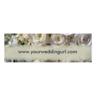 Bridal gift cards - add your wedding website business cards