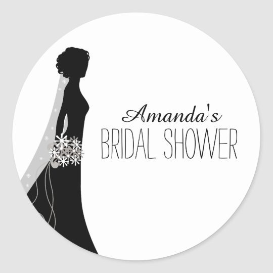 Bridal Gown | Bridal Shower Favour Stickers