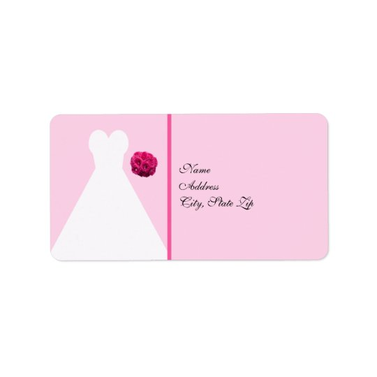 Bridal Gown Bridal Shower Return Address Label