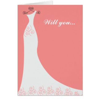 Bridal Gown Custom Bridesmaid Card