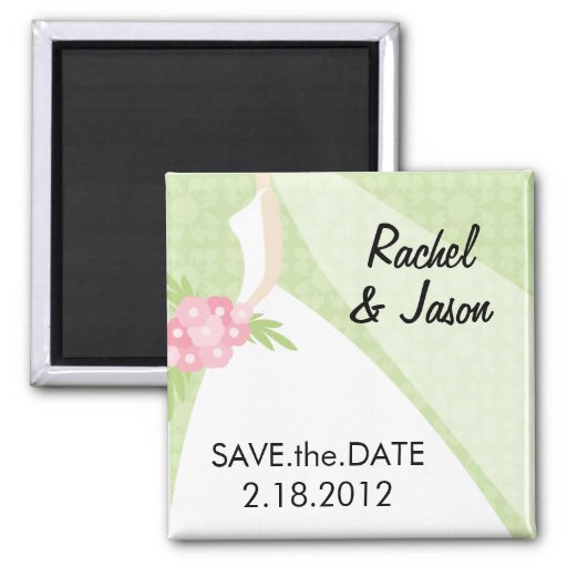 Bridal Gown | Save the Date Magnet