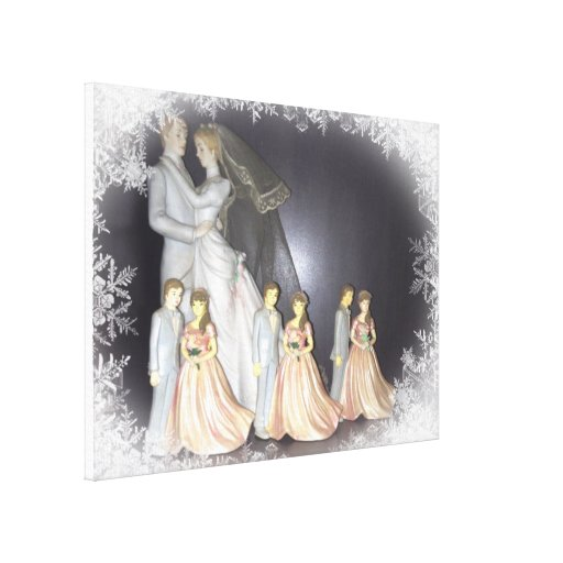 Bridal Memories Stretched Canvas Print