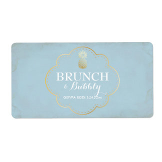 Bridal or Baby Shower Mini Champagne Label Shipping Label