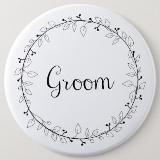 Bridal party badges Groom