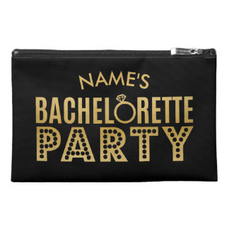 Bridal Party Custom Gold Bachelorette Party Bag Travel Accessories Bags