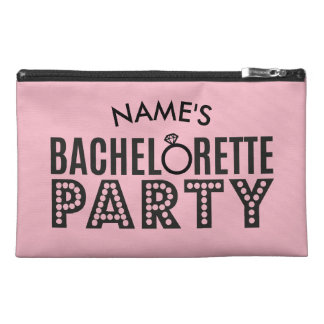 Bridal Party Custom Pink Bachelorette Party Bag Travel Accessories Bag