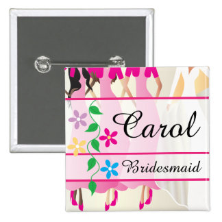 Bridal Party Dinner and Rehearsal Name Buttons