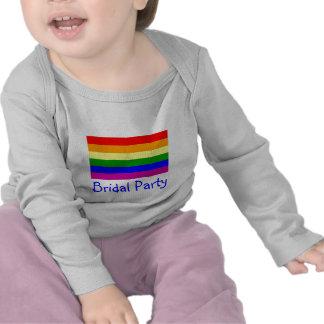 Bridal Party/Gay Rainbow Wedding Tshirts