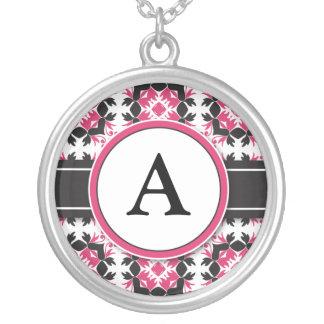 Bridal Party Gift - Monogram Pendant (fuchsia)