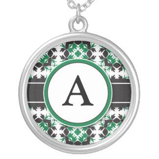 Bridal Party Gift - Monogram Pendant (green)
