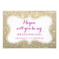 Bridal Party Invite Card - Glittered
