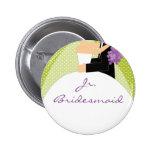 Bridal Party Jr. Bridesmaid Button / Pin