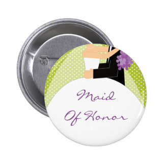 Bridal Party Maid Of Honor Button Pin