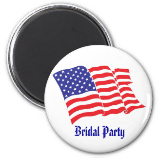 Bridal Party Patriotic Wedding Magnets