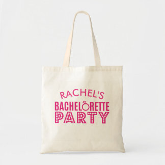 Bridal Party Pink Bachelorette Party Tote Gift