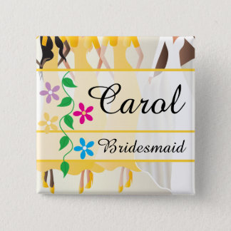 Bridal Party Rehearsal, Shower, Bachelorette 15 Cm Square Badge