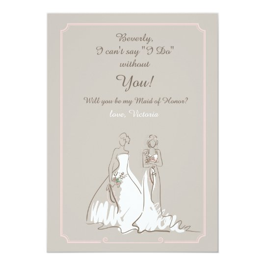 Bridal Party Request Card