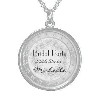 Bridal Party Silver Necklace For Bridal Party Gift