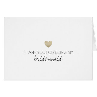 Bridal Party Thank You Card - Heart