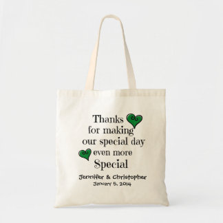 Bridal Party Welcome Thanks Gift Bag GREEN