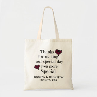 Bridal Party Welcome Thanks Gift Bag MAROON