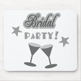 Bridal Party With Stemmed Glasses, Grays Mouse Pad