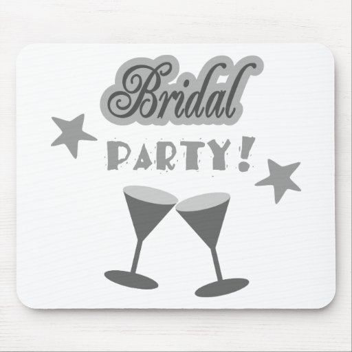 Bridal Party With Stemmed Glasses, Grays Mouse Pads