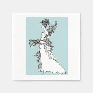 Bridal Princess Napkins Disposable Serviette
