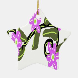 Bridal Purple Flower Design Christmas Ornament
