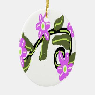 Bridal Purple Flower Design Christmas Tree Ornaments