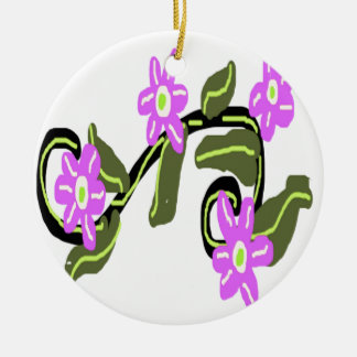 Bridal Purple Flower Design Ornaments