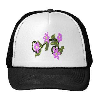 Bridal Purple Flower Design Trucker Hat
