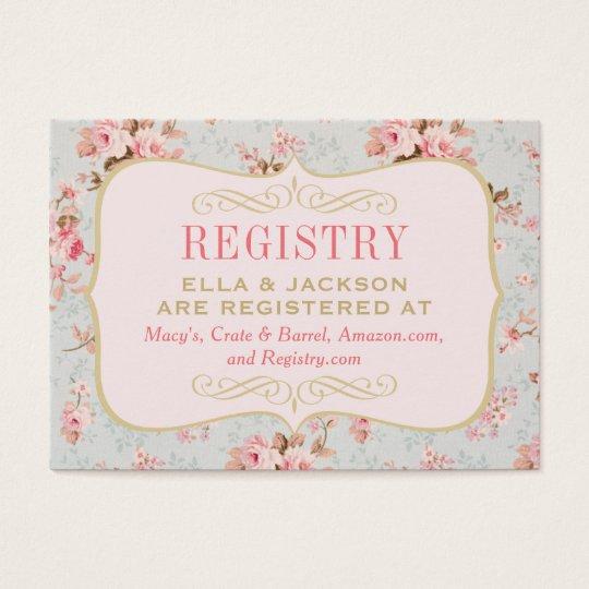 Bridal Registry Card | Vintage Garden Party