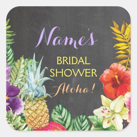 Bridal Shower Aloha Luau Pretty Stickers Labels