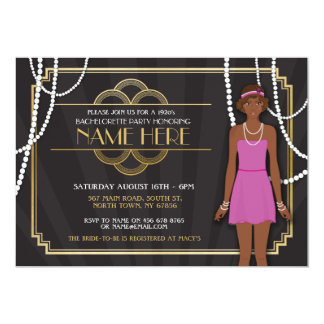 Bridal Shower Bachelorette Party 1920s Invitation