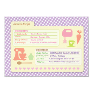 Bridal Shower Baking Recipe Card Bake Party Invite