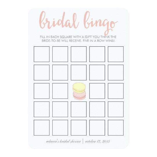 Bridal Shower Bingo Game Card | French Macarons