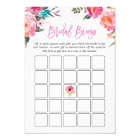 Bridal Shower Bingo Game | Watercolor Pink Floral Card