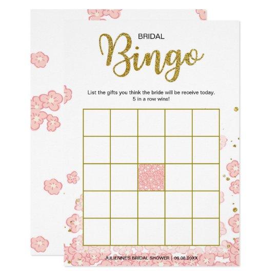 Bridal Shower Bingo | Pink and Gold Glitter