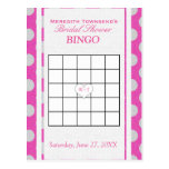 Bridal Shower Bingo | Pink and Silver Postcard