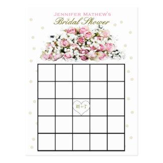 Bridal Shower Bingo | Pink Roses Postcard